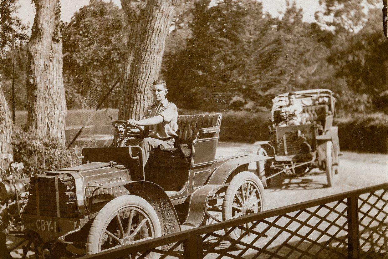 4. Herbert Herold at wheel of CBY 1 towing CA13.jpg